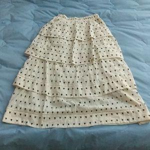 Loveshackfancy Boho Tiered Long Skirt S Maxi